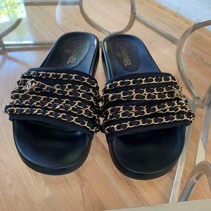 Chanel Slides Navy Blue Size 39